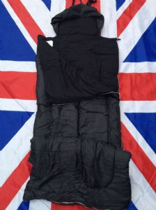 ## NEW ## ARMY/MILITARY BLACK LARGE SYNTHETIC FILLED SLEEPING BAG